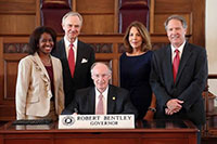 Governor Robert Bentley signs proclamation for Mediation Week 2015, with attorneys Elyce Morris, Bill Coleman, Judy Keegan, and Hon. Scott Donaldson.